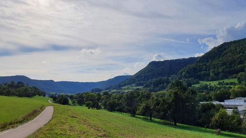 Der Radweg in Richtung Geislingen...