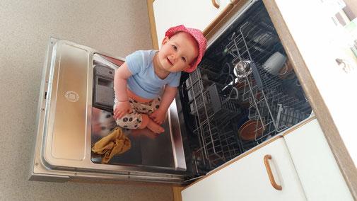 Meiner Enkelin gefällt es im Geschirrspüler - und wie sauber sie ist...