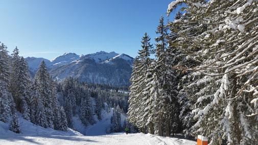 Blick zurück auf die Tannheimer Berge...