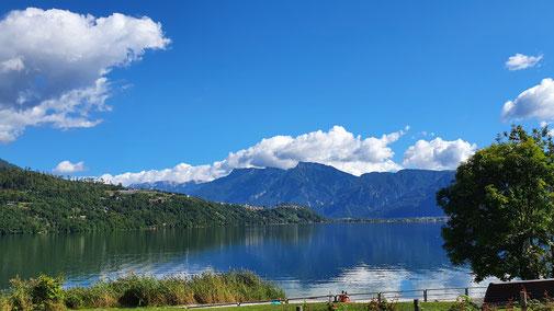 Ein Blick auf den Caldonazzo See...