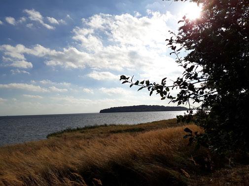 Blick auf die kleine Insel Vilm