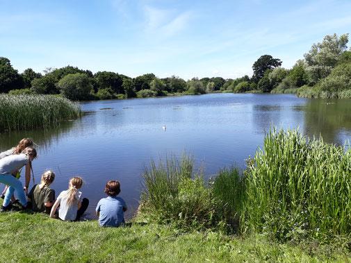 Am See ist es schon wieder ruhiger...