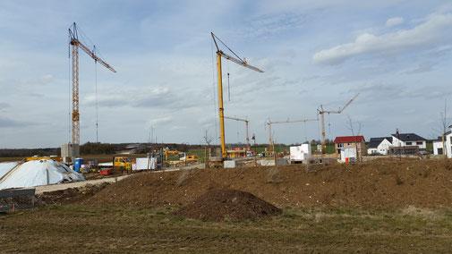 Nellingen entwickelt sich sich... das Neubaugebiet...