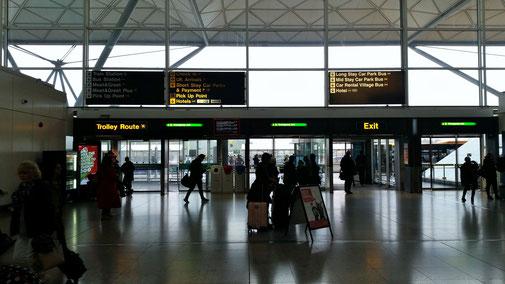 London, Stansted Flughafen, leider Regenwetter