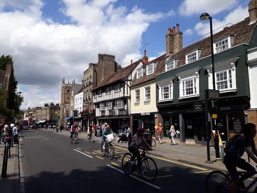 Radler sind in Cambridge immer zu sehen...