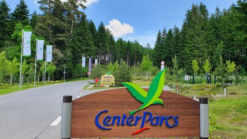 Einfahrt zum Centerpark Urlau in der Nähe von Leutkirch...