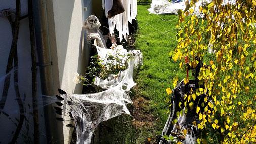 Rund ums Haus verstecken sich Geister...
