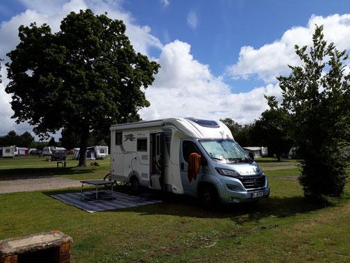Auf dem Campingplatz ist es noch ruhig...