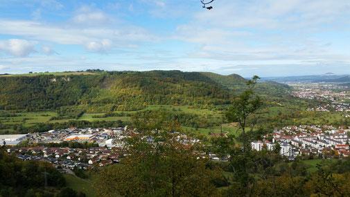 Der Ausblick vom Kahlenstein ist echt traumhaft...