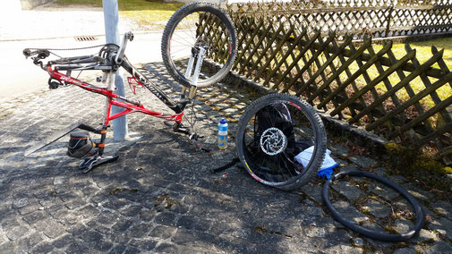 Radwechsel in Suppingen