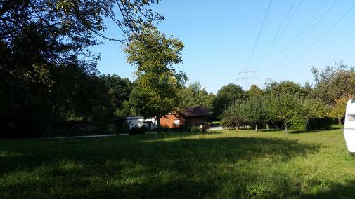 Schlecht zu erkennen - das Schützenhaus Nellingen...