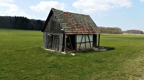 Die nächsten 10 Jahre wird diese Hütte wohl nicht mehr überstehen...