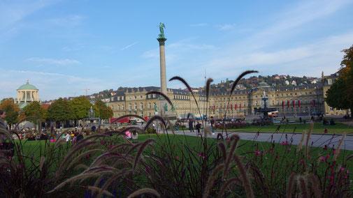 Die Wiese vor dem kleinen Schlossplatz wird nun von vielen Sonnenhungrigen bevölkert...