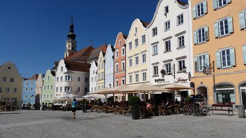 Schärding, barocke Bürgerhäuser