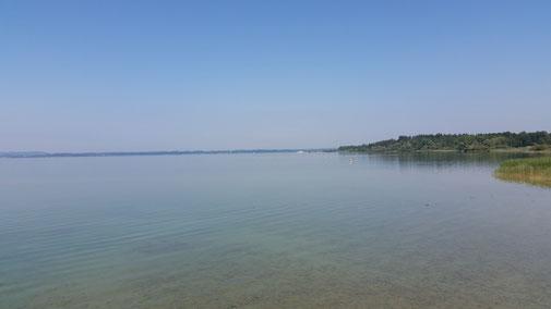 Stimmt - der Bodensee sieht ähnlich aus... es ist der Chiemsee...