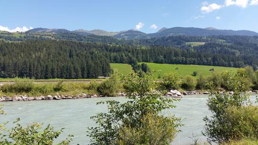Die Salzach irgendwo zwischen Neukirchen und Mittersill (bei schönem Wetter)