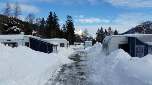 Camping Alpenwelt, Tannheimer Tal, Winter 2019