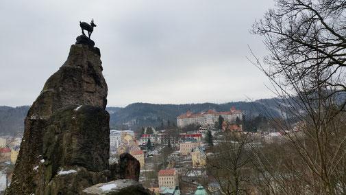 Der Hirschsprung hoch über Karlsbad