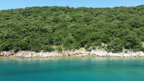 Blick zurück auf die Insel Krk... leben da überhaupt Menschen?
