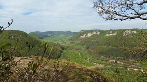 Ein herrlicher Ausblick - nach links in Richtung Bad Reichenbach...