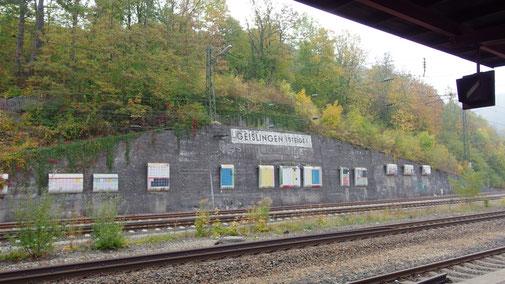 Hart an der Alb... der Bahnhof in Geislingen...