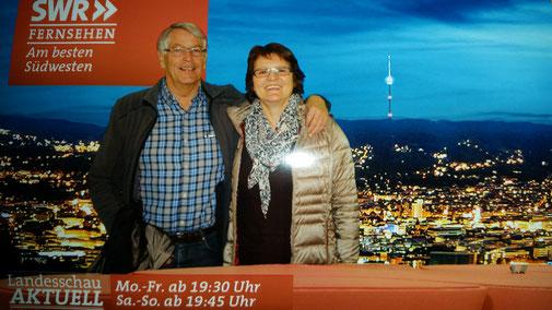 Blick auf Stuttgart, im HIntergrund der Fernsehturm