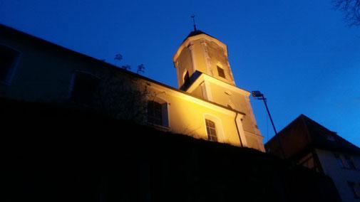 Kirche in Türkheim - 100 m weiter gibt's das Gasthaus Rössle... sehr empfehlenswert - aber ich steige in mein Auto und fahre heim...