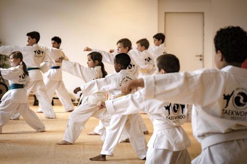 Taekwondo-Unterricht für Kinder von 7-9 Jahren