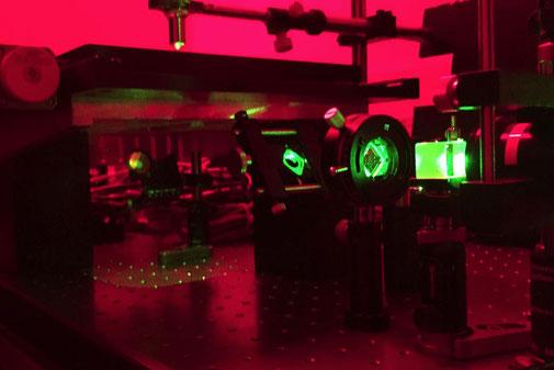 大面積ホログラムの露光試作(リップマン型)