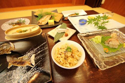 鮎料理コース