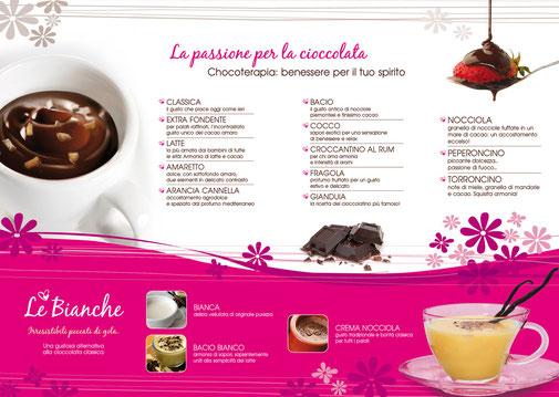 Menù interno cioccolata