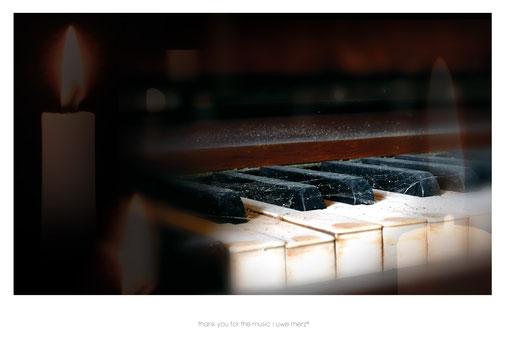 Deko Bild  »thank you for the music« no. music 011P