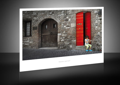 Ihr Wunschmotiv mit weißer Passepartout-Optik, ... elegant, dezent und stylisch!