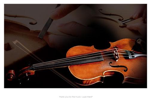Deko Bild  »thank you for the music« no. music 003P