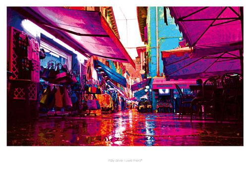 Deko Bild  »Italy alive« - PopArt Variante no. italy 028P