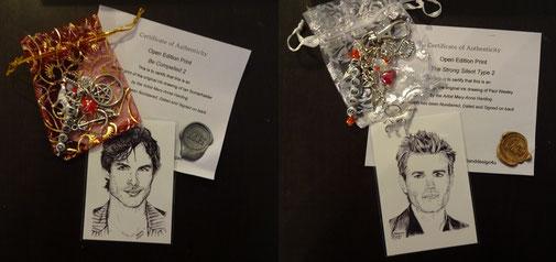 """Schlüsselanhänger und Print """"Stefan"""" oder """"Damon"""" von ArtandDesign4U, 10,84 €"""