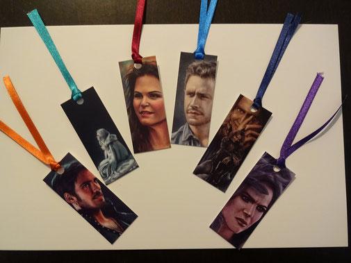 1 von 6 Mini-Lesezeichen zu Once Upon a Time (Hook, Emma, Snow, Charming, Rumpelstilzchen, Regina), ArtBySvenja, 2,00 €