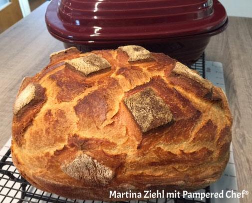 Hanno das Brot aus dem Ofenmeister Zaubermeister von Pampered Chef. Hier das Rezept erhalten. Martina Ziehl mit Pampered Chef bietet weitere tolle Brot Rezepte. Kostenlos alle Rezepte anschauen und ausdrucken