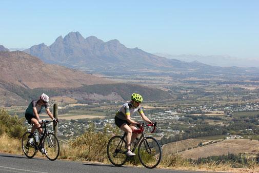 Rennradurlaub rund um Stellenbosch und Kapstadt