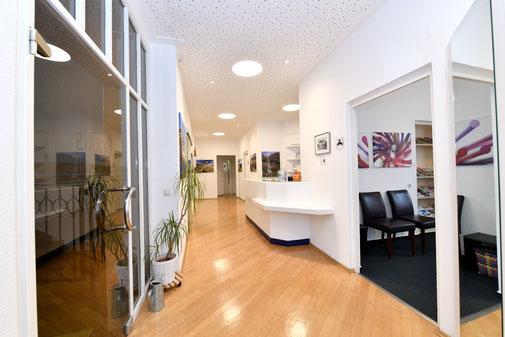 Flur in der Zahnarztpraxis Ruprecht Ehingen