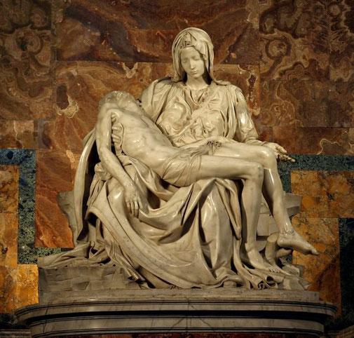 Самые известные работы Микеланджело (Пьета)