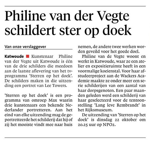 Noordhollands Dagblad 18 oktober 2019