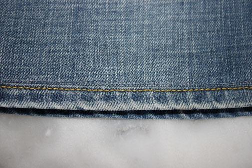 Ourlet jean avec récupération de l'original