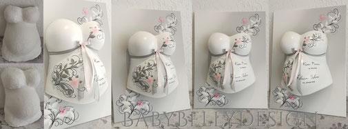 Gipsabdruck vom Babybauch, Babybauchabdruck, Leinwand, Hintergrundbeleuchtung, Baby Foto, Strass, Posamentenborte, Sterne, Babybauchabdruck, BabyBellyDesign, Überarbeitung, Oberflächenglättung; Schmetterling