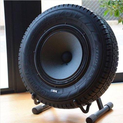 Ich war eine Dose Upcycling Recycling Do it yourself DIY nachhaltig Umweltschutz Lautsprecher Autoreifen loudspeaker Design Minimalismus zero waste
