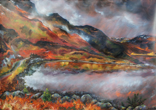 Scotland, abstract oil painting Torridon