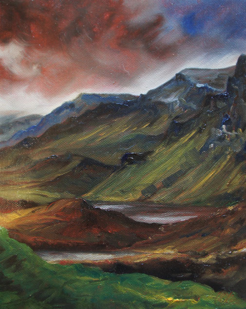 Scotland, abstract oil painting