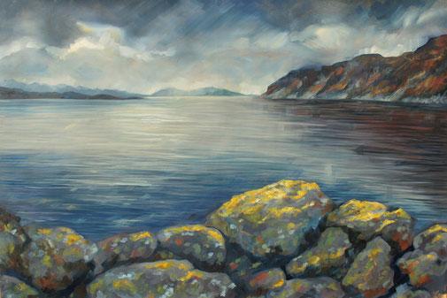 peinture à l'huile paysage de marin écosse, Scotland oil painting, Torridon, landscape painting