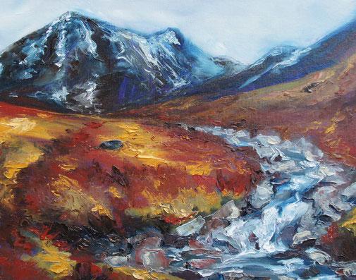 peinture à l'huile paysage de montagne écosse