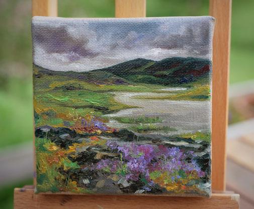 Petite peinture à l'huile, paysage, Scotland landsscape paintings